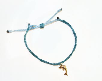 Braided Dolphin Charm