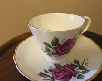 Spencer Stevenson Royal Stuart Footed Cup and Saucer