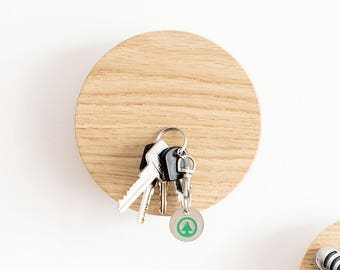 Key holder for wall - magnetic key holder - key rack - key holder - wood key holder - wall key holder - magnetic key hook - wall hook