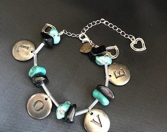 Turquoise Love Beads