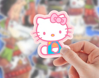 Hello kitty for stickers macbook laptop Birthday Art  Perty Paper Gift cat girl Invitation funny custom labels small Accessories Kawaii