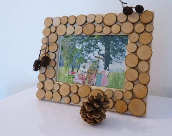 Wall picture Scandinavian wooden brownleather