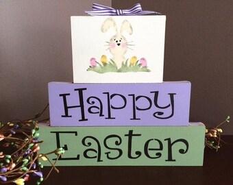 Happy Easter blocks