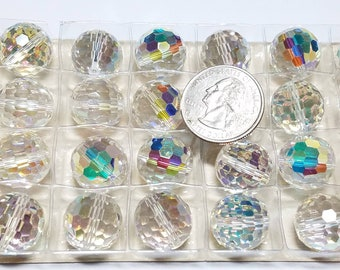 Art. # 5003, 16MM, Round Disco Ball, Crystal AB - Vintage Daniel Swarovski, D.S. & Co. Swarovski Crystal - Circa 1969-1980