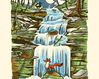 The Falls - Screenprinted Art Print