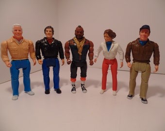 1983 A-Team Set of 5 Action Figure (Galoob)