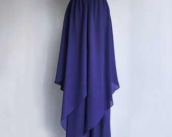 80s 90s • Purple Chiffon Overlay Pants