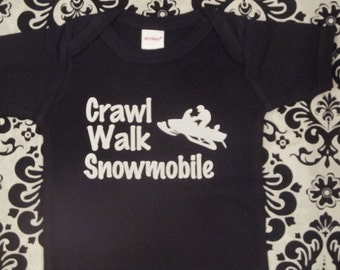 Snowmobile Baby clothes, Snowmobile Baby one piece, Snowmobile Baby bodysuit, Snowmobile Baby clothing, Snowmobile Baby creeper