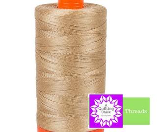 50wt Aurifil Beige 100% Cotton Mako SPOOL Thread Aurifil #MK50-2314