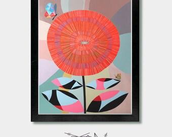 Zen Art, Life Giver. Eco Friendly Print. Life, Zen Buddhist, Buddhist Art, Life, Live Flowers, Alan Watts, Meditation Wall Art, Nursery Art