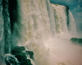 Waterfall Photo, Nature Photography, Landscape, Iguazu Falls Print  Iguazu Falls Photo, Waterfall Print, Iguazu Falls Photography, Decor