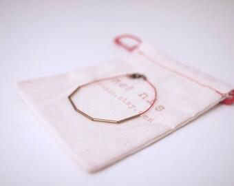 Slim Copper Tube (5 pcs) Silk Cord Bracelet