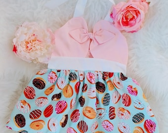 Pastel Donut Bow Party Dress