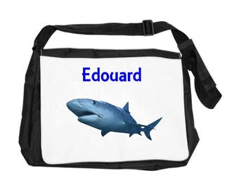 Personalized with name shark shoulder bag