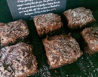 Frosted Chocolate Brownie Box