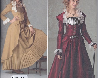 Simplicity 2172 Misses Victorian Steampunk Costume Skirt Jacket Bustier UNCUT Sewing Pattern