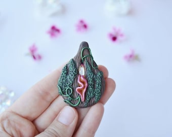 Tree bark Vulva, vulva necklace, vulva pendant, yoni necklace, yoni pendant, vagina necklace, vagina pendant, pussy, coño, pussy pendant