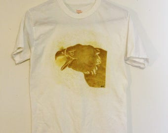 White and Gold Bald Eagle T Shirt