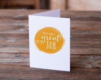 Encouragement Card | Doing a Great Job | Greeting Card | Friendship | Support