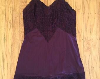 Vintage burgundy slip