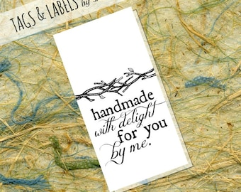 Printable PDF Hang Tags or Product Labels - Handmade with Delight for You