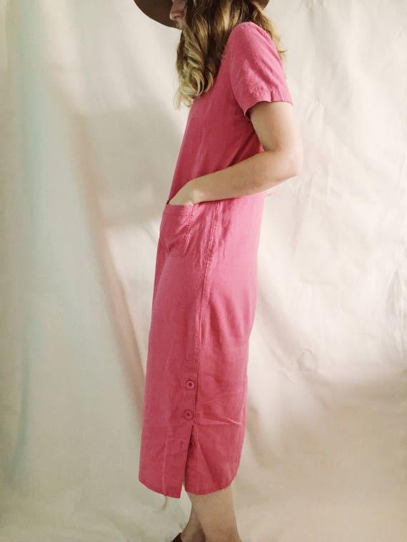 Vintage Linen Dress // S