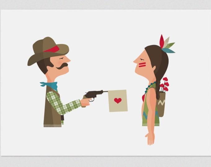 """Ilustración """" Amor a bocajarro """"."""