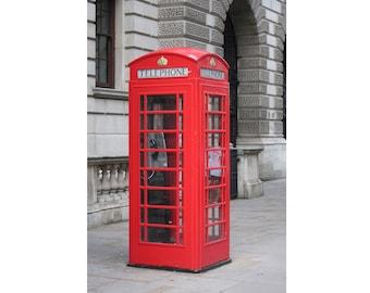 Telephone Box - Phone Box - Red Phone Box - London - Urban - Phone Box Photo - Red - Vertical - Digital Photo - Digital Download - Wall Art