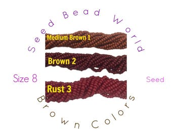15% Off Brown Size 8 Seed Beads by Seed Bead World