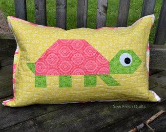 Turtle Quilt BLOCK Pattern, PDF, Instant Download, modern patchwork, animal
