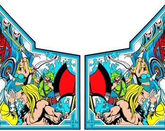 Gauntlet Side Art Panels Arcade Cabinet Graphics Stickers Reproduction