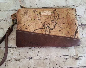 All Cork Clutch with Wristlet