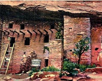 Vintage Colorado Postcard - Manitou Cliff Dwellings, Manitou Springs (Unused)