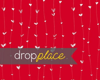 Printed Red Hearts Photography backdrop  Background Photo Booth Printed vinyl or Fabric (Multiple Sizes Available)