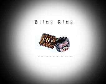Ring Bling and Pink Ring Bead Patterns (Two in one)