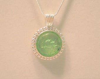 Mint Green Intaglio Pendant