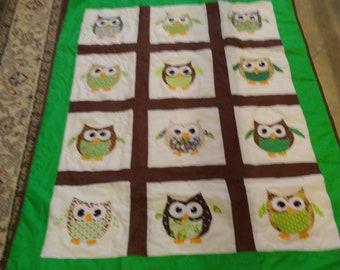 lap/crib appliqued quilt