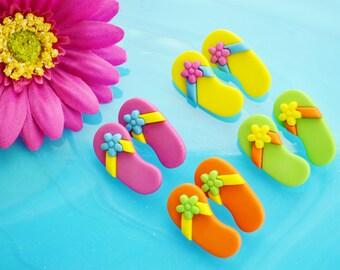 Flip Flop Buttons ~Terrarium Accessory  ~ Button ~ 1 pair ~ Color choice at checkout ~