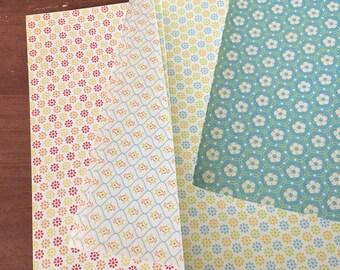Flowered paper etsy cardstock glitter flowered 8 x 8 paper card stock scrapbook paper scrapbooking mightylinksfo