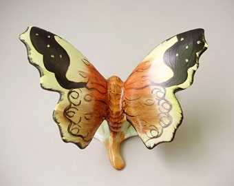 Vintage HUNGARIAN porcelain   figurine,butterfly,hand painted