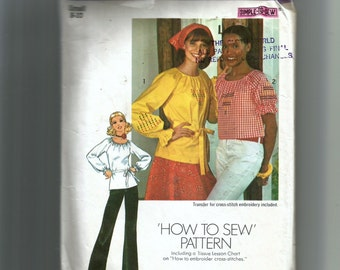 Simplicity Misses' Blouse In Two Lengths Pattern 7038