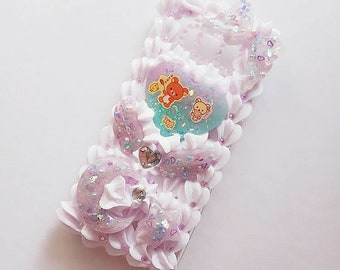 Galaxy S8 Rilakkuma Dreamy Lavender Decoden Case