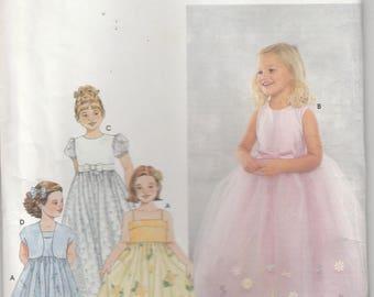 Flower Girl Dress Pattern Pageant Gown Size 3 - 4 - 5 Uncut Simplicity 9147