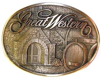 O.C. Tanner Great Western Brewing Company Brass Belt Buckle