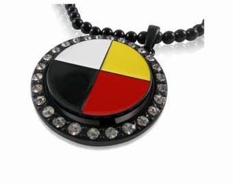 Medicine Wheel Spinner Bead Chain