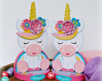 Unicorn Centerpieces, Set of 2 Unicorn Centerpieces, Unicorn Decor, Unicorn Birthday, Unicorn Baby Shower