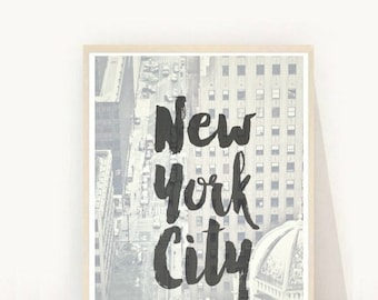 New York Print, Printable Art, New York City, New York Poster, Wall Decor, Home Decor, Wall Art, Instant download