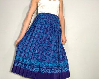 1980s pleated midi skirt