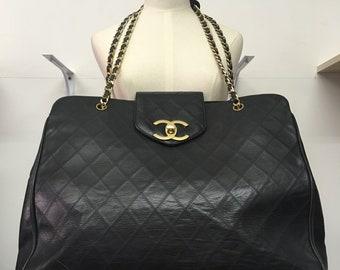Chanel Vintage supermodel overnight XL tote Bag