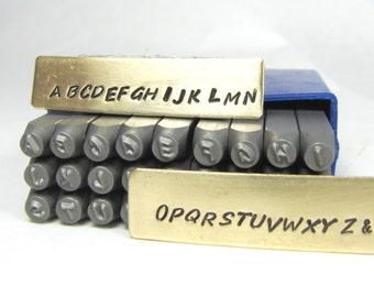 2mm HandPrint font Steel alphabet stamps Upper case stee letter stamps